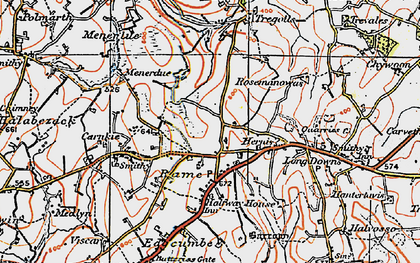 Old map of Rame in 1919