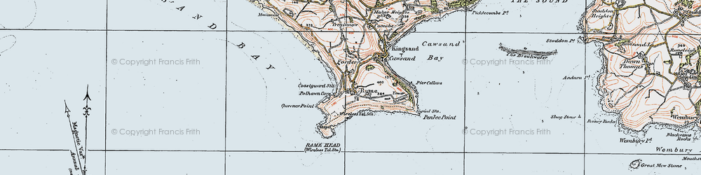 Old map of Lillery's Cove in 1919