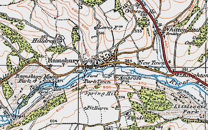 Old map of White's Hill in 1919