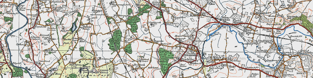 Old map of Allesborough Hill in 1919