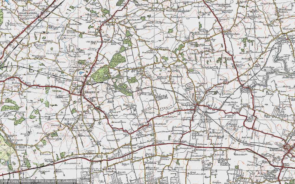 Old Map of Ramsden Bellhouse, 1921 in 1921