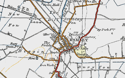 Old map of Ramsey in 1920