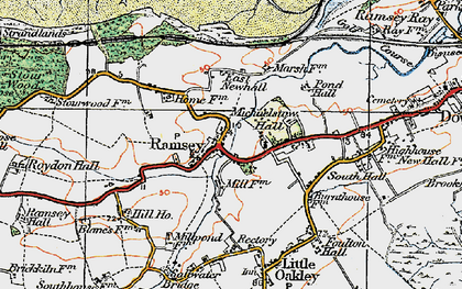 Old map of Ramsey in 1921