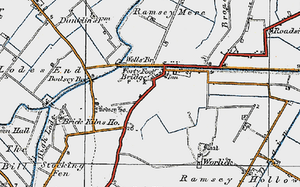 Old map of Ash Drain in 1920
