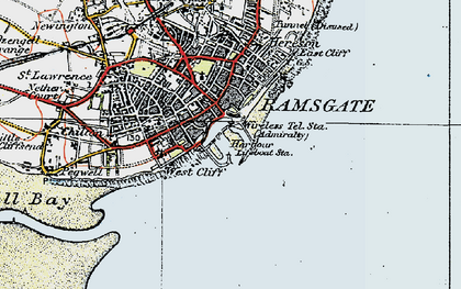 Old map of Ramsgate in 1920