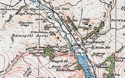Old map of Ramsgill in 1925