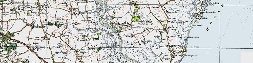 Old map of Alderton Ho in 1921