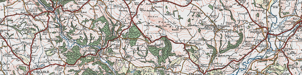 Old map of Wootton Park in 1921