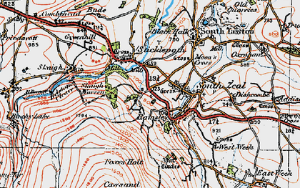 Old map of White Hill in 1919