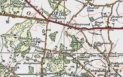 Old map of Lin Brook in 1921