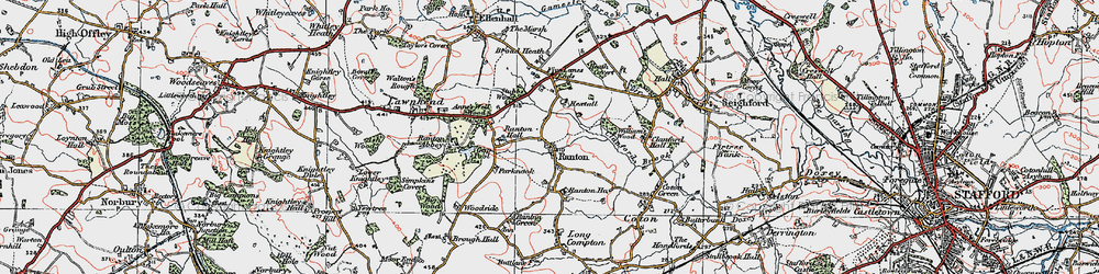 Old map of Williams's Wood in 1921