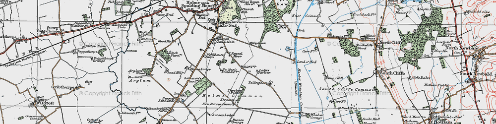 Old map of Tollingham in 1924