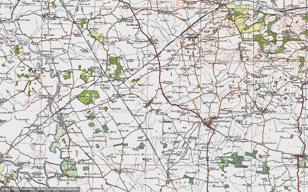 Old Map of Historic Map covering Baldrence in 1924
