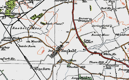 Old map of Leys Barn in 1924