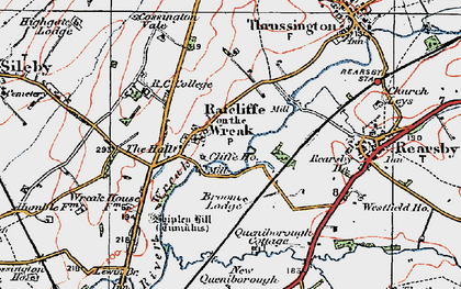 Old map of Lewin Br in 1921