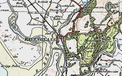 Old map of Ravenglass in 1925