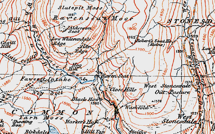 Old map of Alderson Seat in 1925
