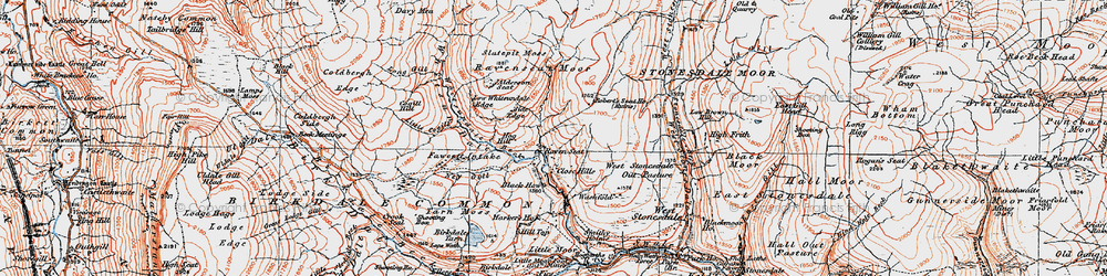 Old map of Whitsun Dale in 1925