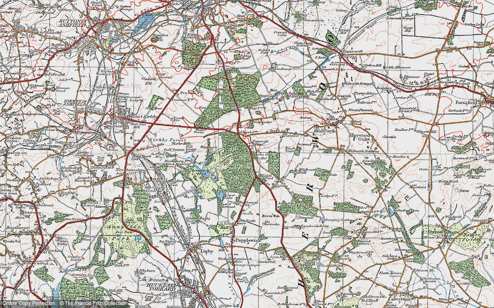 Old Map of Historic Map covering Abbey Wood in 1923