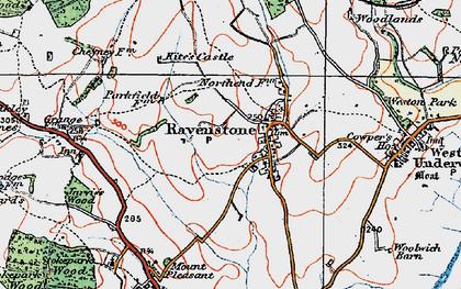 Old map of Ravenstone in 1919