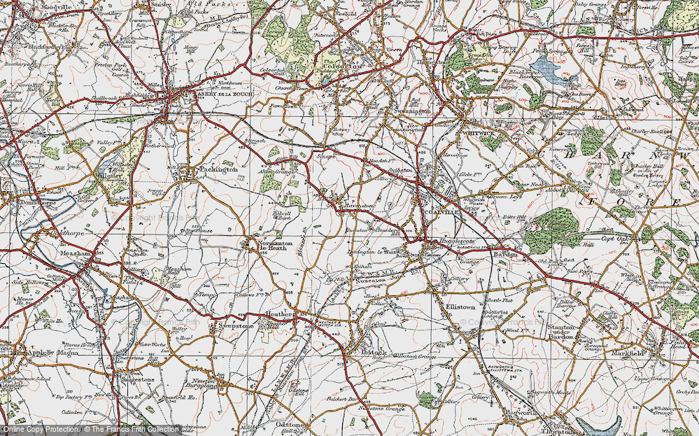 Old Map of Historic Map covering Alton Grange in 1921