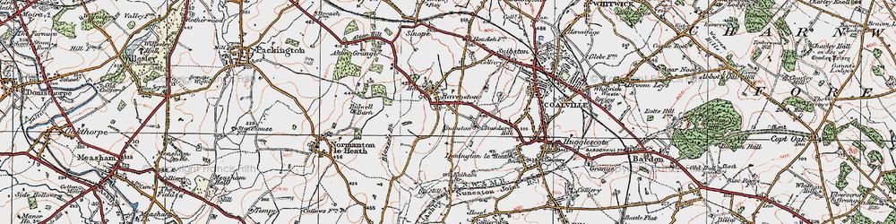 Old map of Alton Grange in 1921