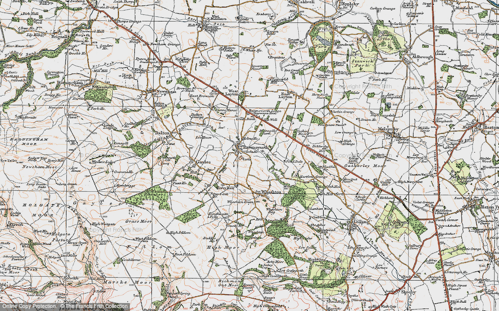 Old Map of Historic Map covering Tofta Ho in 1925