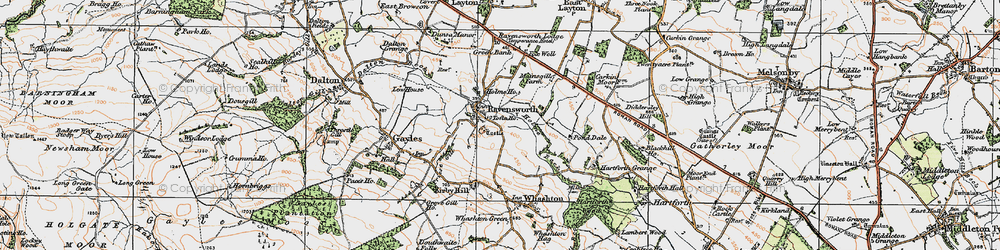 Old map of Ravensworth in 1925