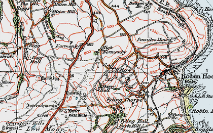 Old map of Latter Gate Hills in 1925