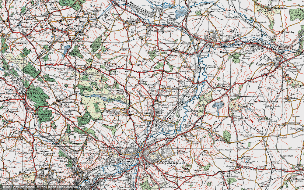 Old Map of Rawmarsh, 1924 in 1924