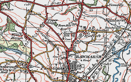 Old map of Rawmarsh in 1924