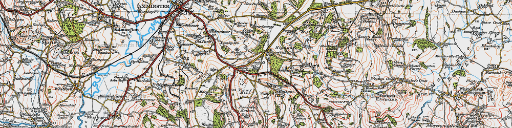 Old map of Whitty Hill in 1919