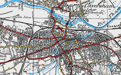 Old map of Reading in 1919