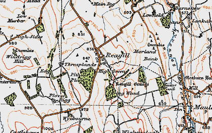 Old map of Wyebourne in 1925