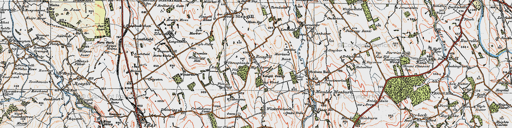 Old map of Wickerslack in 1925