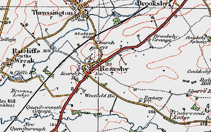 Old map of Rearsby in 1921