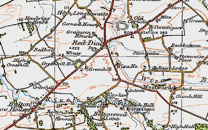 Old map of Wiza Beck in 1925