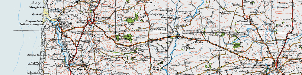Old map of Anderton in 1919