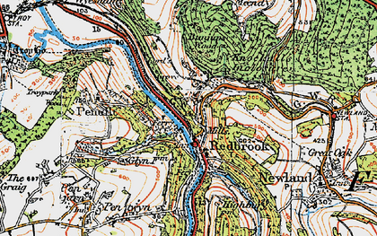 Old map of Redbrook in 1919