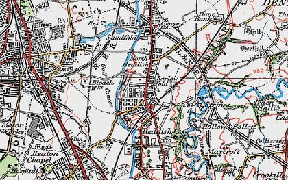 Old map of Reddish in 1923