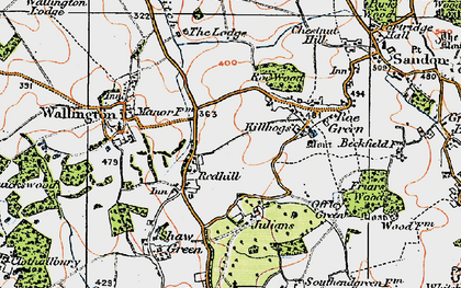 Old map of Redhill in 1919