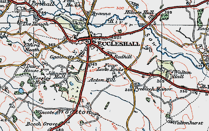 Old map of Acton Hill in 1921