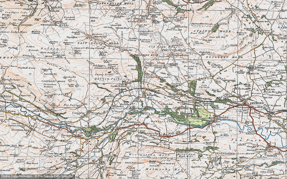 Old Map of Historic Map covering Wood End in 1925