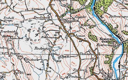 Old map of Redmoor in 1919