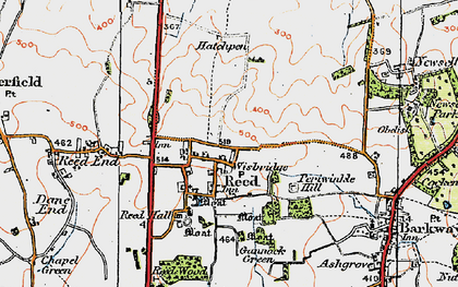 Old map of Reed in 1920