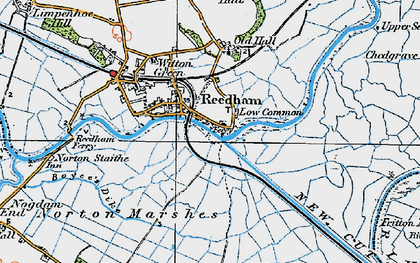Old map of Reedham in 1922