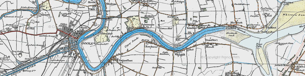 Old map of Whitgift Ness in 1924