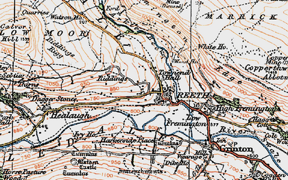 Old map of Swaledale in 1925