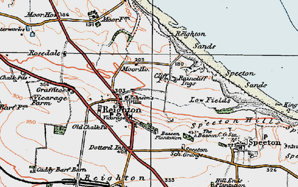 Old map of Reighton in 1925