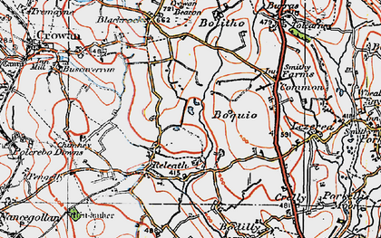 Old map of Releath in 1919